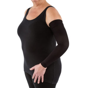 JOBST® Bella™ Strong Armsleeve 15-20 w/Silicone Band Black SZ 1 REG