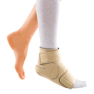 circaid juxtafit interlocking ankle foot wrap with undersock silver